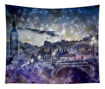 City-art London Westminster Bridge At Sunset Tapestry