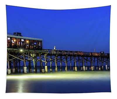 Cocoa Beach Pier At Twilight Tapestry