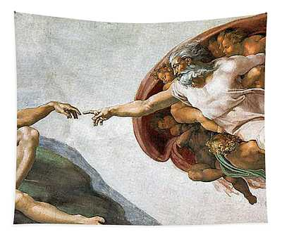 Creation Of Adam Tapestry