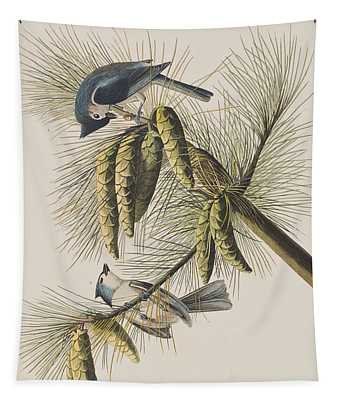 Crested Titmouse Tapestry