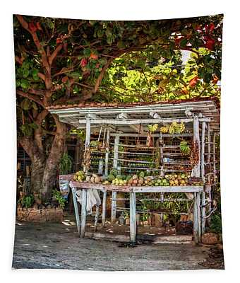 Cuban Fruit Stand Tapestry