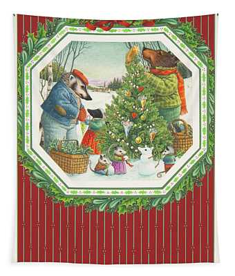 Decorating The Tree Tapestry