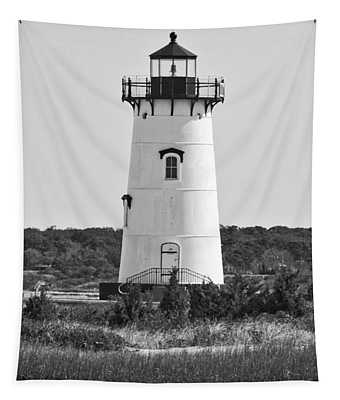 Edgartown Lighthouse Black And White Tapestry