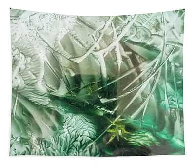 Encaustic Abstract Green Foliage Tapestry