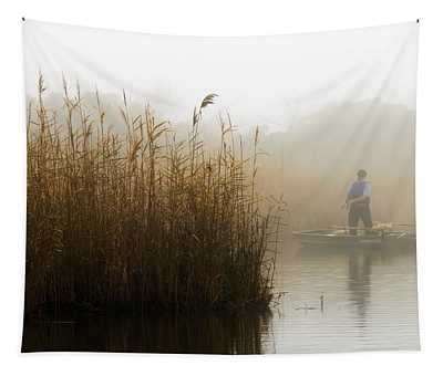 Foggy Fishing Tapestry