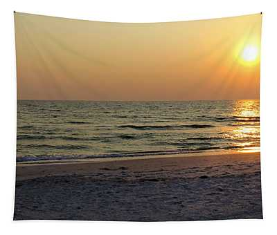 Golden Setting Sun Tapestry