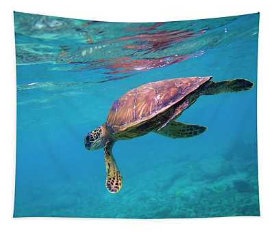 Green Sea Turtle Tapestry