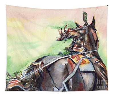 Horse Art In Watercolor Tapestry