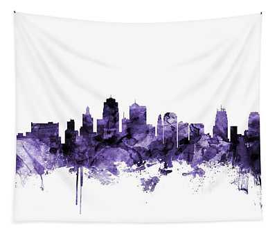 Kansas City Missouri Skyline Tapestry