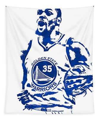 Kevin Durant Golden State Warriors Pixel Art 4 Tapestry