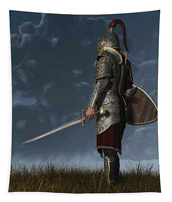 Knight Of The Storm Tapestry