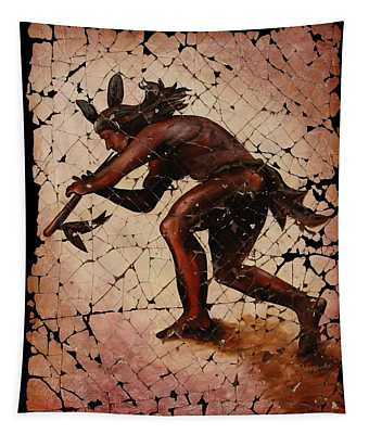 Kokopelli The Flute Player  Tapestry