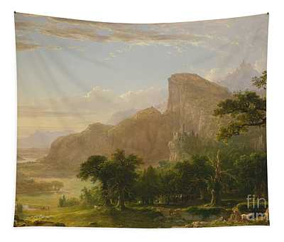 Landscape Scene From Thanatopsis Tapestry