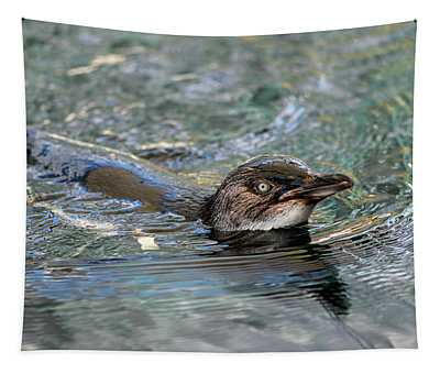 Little Penguin In The Water Tapestry