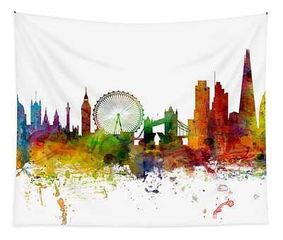 London England Skyline Panoramic Tapestry