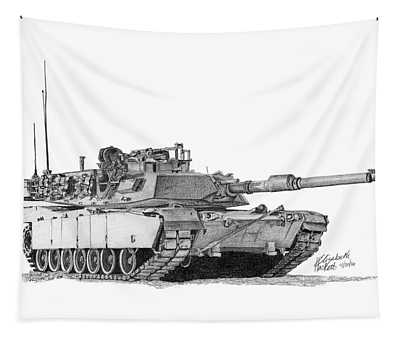 M1a1 Tank Tapestry