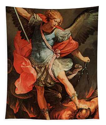 Michael Defeats Satan Tapestry