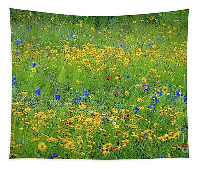 Mixed Wildflowers In Texas 538 Tapestry