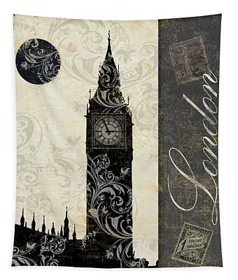 Moon Over London Tapestry