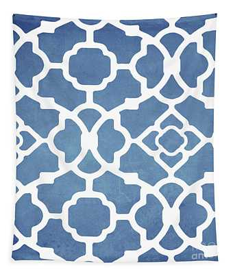 Moroccan Blues Tapestry