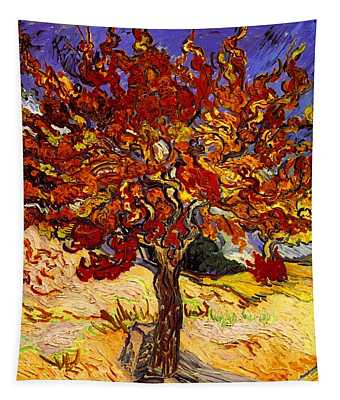 Tapestry featuring the painting Mulberry Tree by Van Gogh