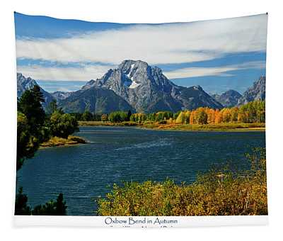 Oxbow Bend In Autumn Tapestry