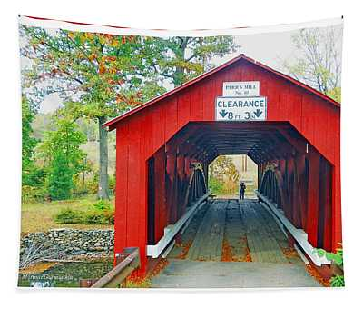 Parr's Mill Covered Bridge, Columbia County, Pennsylvania Tapestry