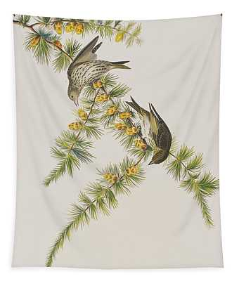 Pine Finch Tapestry