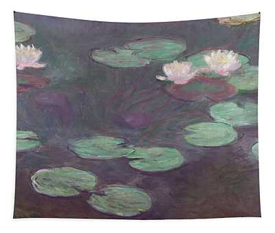 Pink Water Lilies Tapestry