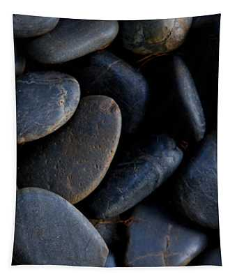 Plumeria Pebbles  - Part 3 Of 3 Tapestry