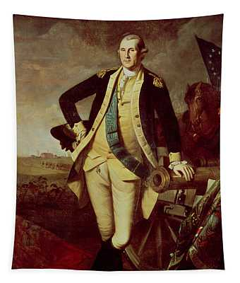 Portrait Of George Washington Tapestry