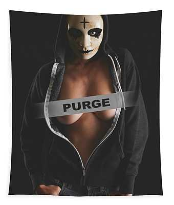Purge Woman Tapestry