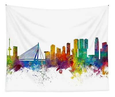Rotterdam The Netherlands Skyline Tapestry
