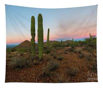 Saguaro Dusk Tapestry