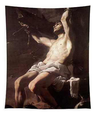 Saint Sebastian By Mattia Preti Tapestry