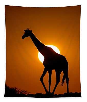 Southern Giraffe Giraffa Camelopardalis Tapestry