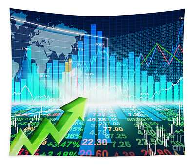 Stock Market Concept Tapestry