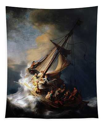 Storm On The Sea Of Galilee Tapestry