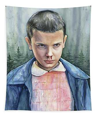 Stranger Things Eleven Portrait Tapestry