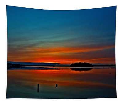 Sunrise Onset Pier Tapestry