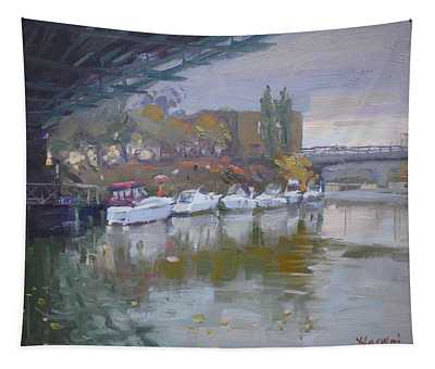 Sunset In A Rainy Day Tapestry