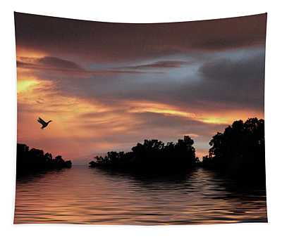 Sunset River   Tapestry