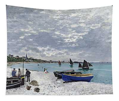 The Beach At Sainte Adresse Tapestry