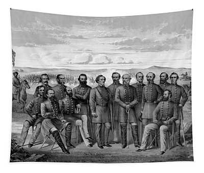 The Generals Of The Confederate Army Tapestry