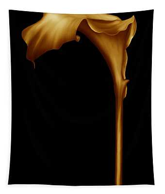 The Golden Calla Lilly Tapestry