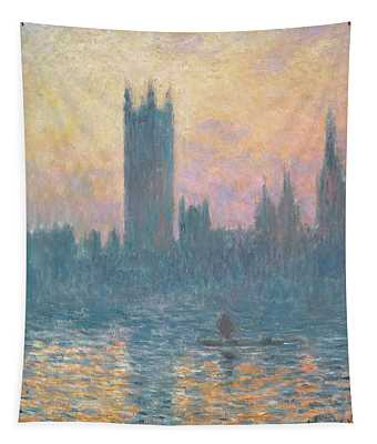 The Houses Of Parliament  Sunset Tapestry