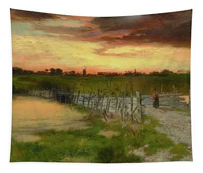 The Old Bridge Over Hook Pond, East Hampton, Long Island Tapestry