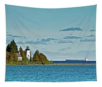 The Old Presque Isle Lighthouse Tapestry