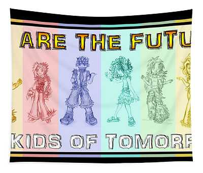 Tapestry featuring the drawing The Proud Kids Of Tomorrow 3 by Shawn Dall