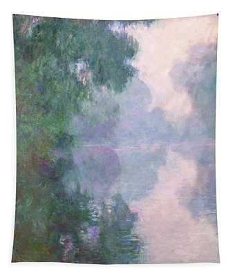 The Seine At Giverny, Morning Mists Tapestry